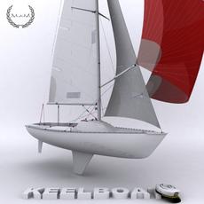 Keelboat 3D Model