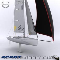 Sport Keelboat 3D Model
