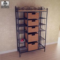 Manilla 5 Drawer Kitchen Storage Rack 3D Model
