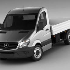 Mercedes Sprinter 2013 pick-up 3D Model