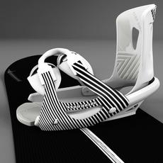Board-bindings 3D Model