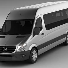 Mercedes Sprinter 2013 minibus 3D Model