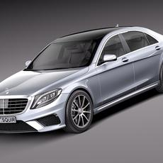 Mercedes-Benz S-Class S63 AMG 2014 3D Model