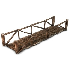 Wooden plank bridge 3D Model