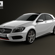 Mercedes-Benz A-class with HQ interior 2013 3D Model