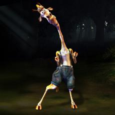 Cartoonish Giraffe Character 3D Model
