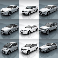 10 City cars models F 3D Model