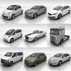 10 City cars models G 3D Model