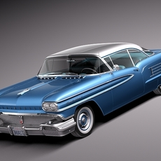 Oldsmobile 88 1958 coupe 3D Model