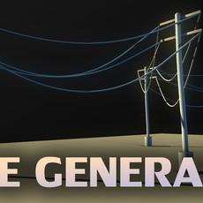 Hanging Rope / Cord Generator (curve generator) for Maya 1.2.0 (maya script)