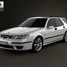 Saab 9-5 Aero wagon 2005 3D Model