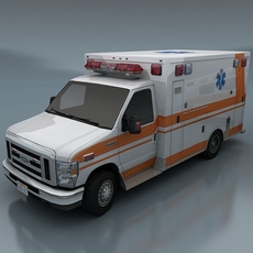 Ambulance - 8 color variants 3D Model