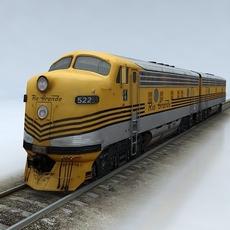EMD F9 3D Model