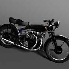 Vincent Black Shadow 1950 3D Model