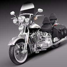 Harley-Davidson Springer FLSTS Heritage 2013 3D Model