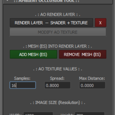Deo's Ambient Occlusion Tool for Maya 2.0.0