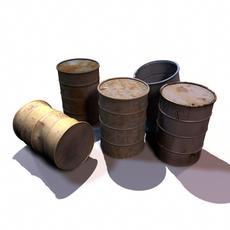 Drum Barrels 3D Model