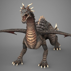 Fantasy Ancient Dragon 3D Model