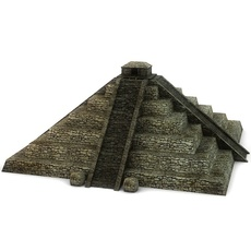 Ancient pyramid with temple 3D Model