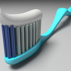 Toothbrush with toothpaste 3D Model