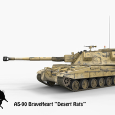 AS-90 BraveHeart Desert Rats Scheme 3D Model