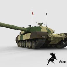 Arjun Tank with Indian Army Scheme 3D Model