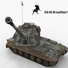 AS-90 BraveHeart British Army Scheme 3D Model