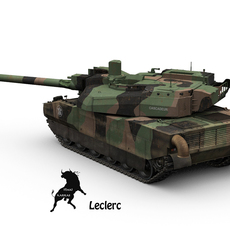Leclerc French Army Scheme 3D Model