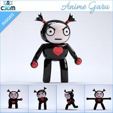 Anime Garu - Rigged 3D Model