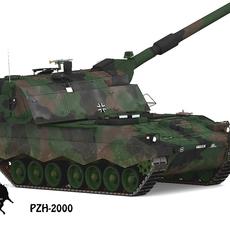 Pzh-2000, German Army Scheme 3D Model