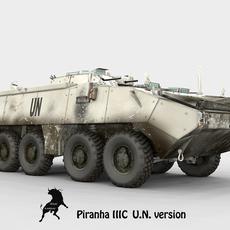 Mowag Piranha III C, Spanish U.N. scheme version 3D Model