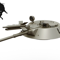 BMP-1 Turret with Sagger missile 3D Model