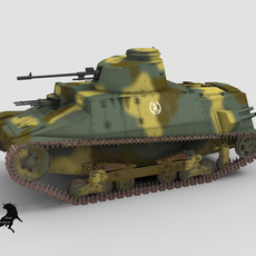 C.C.I. of 1937 with Spanish National  Army scheme 3D Model
