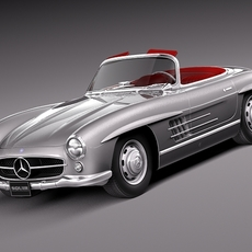 Mercedes-Benz 300SL Roadster 1956 3D Model