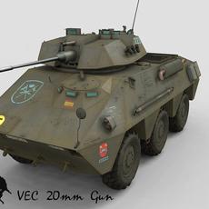 VEC-20 mm oerlikon gun, the prototype 3D Model