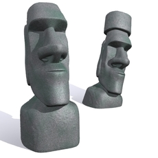 Easter Island Moai 3D Model