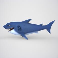 Cartoon Shark 3D Model