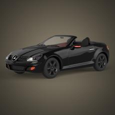 Realistic Car Mercedes Benz 3D Model
