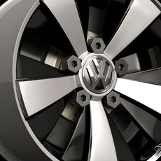 Volkswagen Maggiolino rim 3D Model
