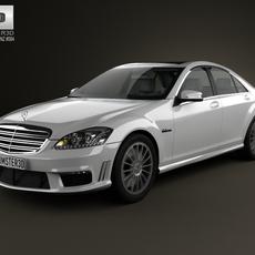 Mercedes-Benz S-class 65 AMG 2012 3D Model
