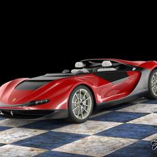 Ferrari Sergio concept STD MAT 3D Model