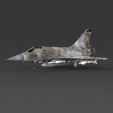 Fighter Aircraft Mirage 2000 3D Model
