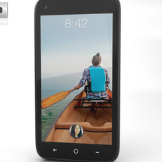 HTC First Facebook Phone 3D Model