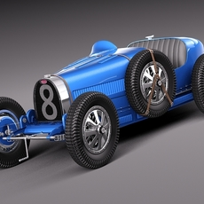 Bugatti Type 35 1925-1929 3D Model