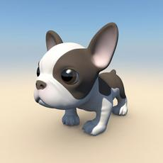 French Bulldog Puppy with Morphs 3D Model