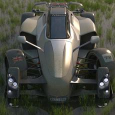 Tramotana sports car 3D Model