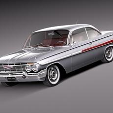 Chevrolet Impala Coupe 1961 3D Model