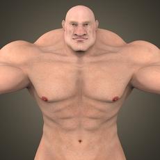 Fantasy Muscular Man 3D Model
