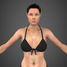 Realistic Female Angela 3D Model
