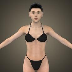 Sexy Woman Lina 3D Model